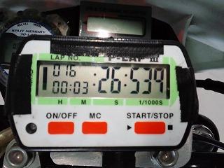 2012年5月9日 ニミモト練習走行 自己ベスト