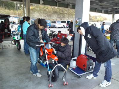 2012/12/02 レース前準備
